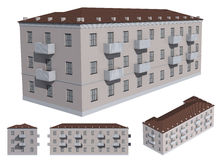 Model of the building Royalty Free Stock Photo