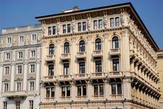 Model building in Piazza Unità d'Italy Trieste in Friuli Venezia Giulia (Italy) Royalty Free Stock Image