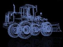 Model bulldozer Royalty Free Stock Images