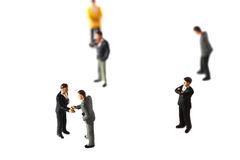 Model business figures C Royalty Free Stock Images