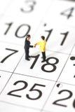 Model business figures calendar D Stock Image