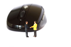 Model business figures mouse A Royalty Free Stock Photos