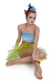 Model with butterfly bodyart Royalty Free Stock Photography