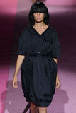 Model Cameron Russell walk the runway at Marc Jacobs during Mercedes-Benz Fashion Week Spring 2015 Stock Image