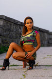 Model in Camoflauge shorts and shirt. Stock Photography