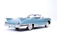Model car. Photo of shiny blue car model isolated on the white background royalty free stock image