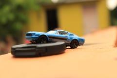 model  car  boekh  stunt  colours Royalty Free Stock Photo