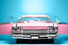 Model Car Convertible. Closeup of Pink Model Car Convertible royalty free stock photo