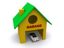 Model of car in garage Stock Image