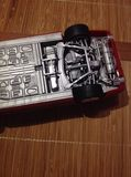 The model car. Models specially red royalty free stock images