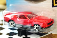 Model car scene. royalty free stock images