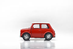 Model Car. Toys go to take pictures with various attractions Stock Photo