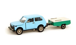 Model car with trailer Royalty Free Stock Image