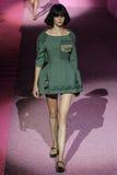 Model Caroline Loosen walk the runway at Marc Jacobs during Mercedes-Benz Fashion Week Spring 2015 Stock Images
