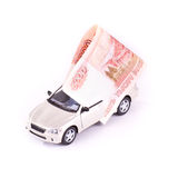 Model cars and banknotes Royalty Free Stock Image
