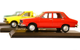Model cars collecting. Colorful collection of eastern European classic model cars Royalty Free Stock Photography