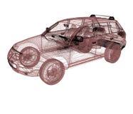 Model cars. 3d render stock illustration