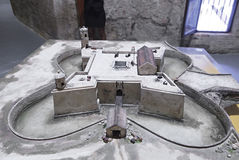 Model of of the castillo de la Real Fuerza. Stock Images