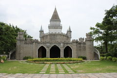 Model of the castle in a park Royalty Free Stock Photography