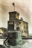 Model of the castle of Rapallo Royalty Free Stock Image