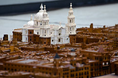 Model of the Cathedral of Cadiz. Model of the city of Cadiz, which shows in detail the Cathedral of Cadiz, is a model made ​​in 1777 Stock Images