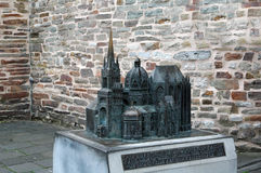 Model of Cathedral to Aachen Stock Photography