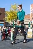 Model on catwalk Royalty Free Stock Photo