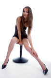 Model on a chair Stock Photo