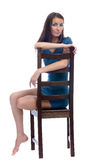 Model on a chair Royalty Free Stock Image