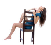 Model on a chair Royalty Free Stock Photos