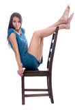 Model on a chair Royalty Free Stock Photography