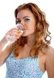 Model with champagne Stock Photography