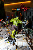 A model of the character Hulk from the movies and comics Stock Photography