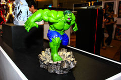 A model of the character Hulk from the movies and comics Royalty Free Stock Images