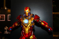 A model of the character Iron Man from the movies and comics stock photo