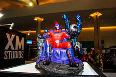 A model of the character Magneto from the movies and comics Stock Photos
