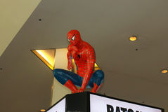 A model of the character Spiderman from the movies and comics 2 Royalty Free Stock Photos