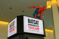 A model of the character Spiderman from the movies and comics Stock Photography