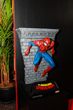 A model of the character Spiderman from the movies and comics Stock Images