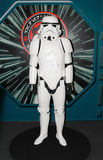 A model of the character Storm Trooper from the movies and comic Stock Image