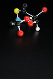 Model of chemical molecule, space for your text Royalty Free Stock Photos