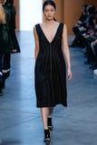 Model Chiharu Okunugi walk the runway at the Derek Lam Fashion Show during MBFW Fall 2015 Stock Images