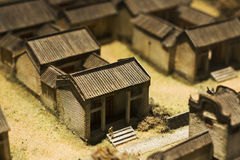 Model of chinese village Stock Photography