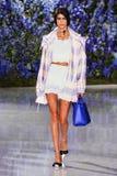 Model chodzi pas startowego podczas Christian Dior przedstawienia Obrazy Royalty Free