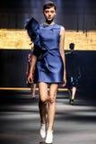 Model chodzi pas startowego podczas Lanvin przedstawienia Obrazy Stock