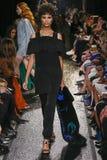 Model chodzi pas startowego przy Sonia Rykiel przedstawieniem Obrazy Stock