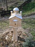 Model of the Christian Orthodox Church. Model is set in the countryside and calms itself photo Stock Images