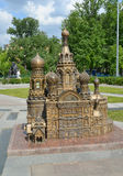 The model of Church of the Savior on Blood in St. Petersburg Royalty Free Stock Image