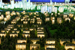 Model of a city architecture, buildings and park model Stock Images