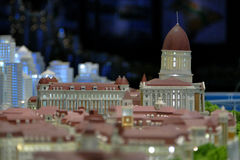 Model of a city architecture, buildings and park model Stock Photography